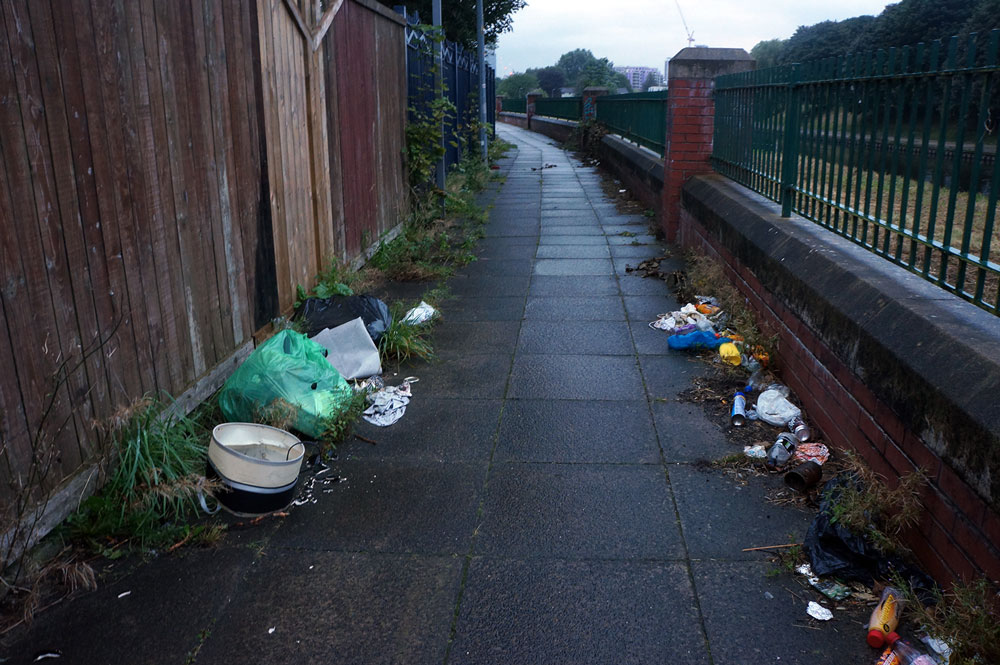 Street with litter