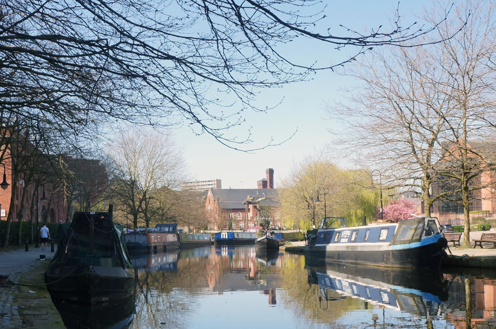 he passes the lockdown in a different way. Just in Castlefield there were roughly 20 boats