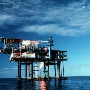 Open Letter from Oil and Gas Climate Initiative. Drilling patform at the ocean. Published at The green Bee: Eco-Journalism. Author Juanele Villanueva