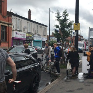 Levenshulme ask for pop-up cycle lanes. They gather in A6 to protest. A6 Cycle Action oprganise it. Published at The Green Bee: Eco-Journalism. Author Juanele Villanueva