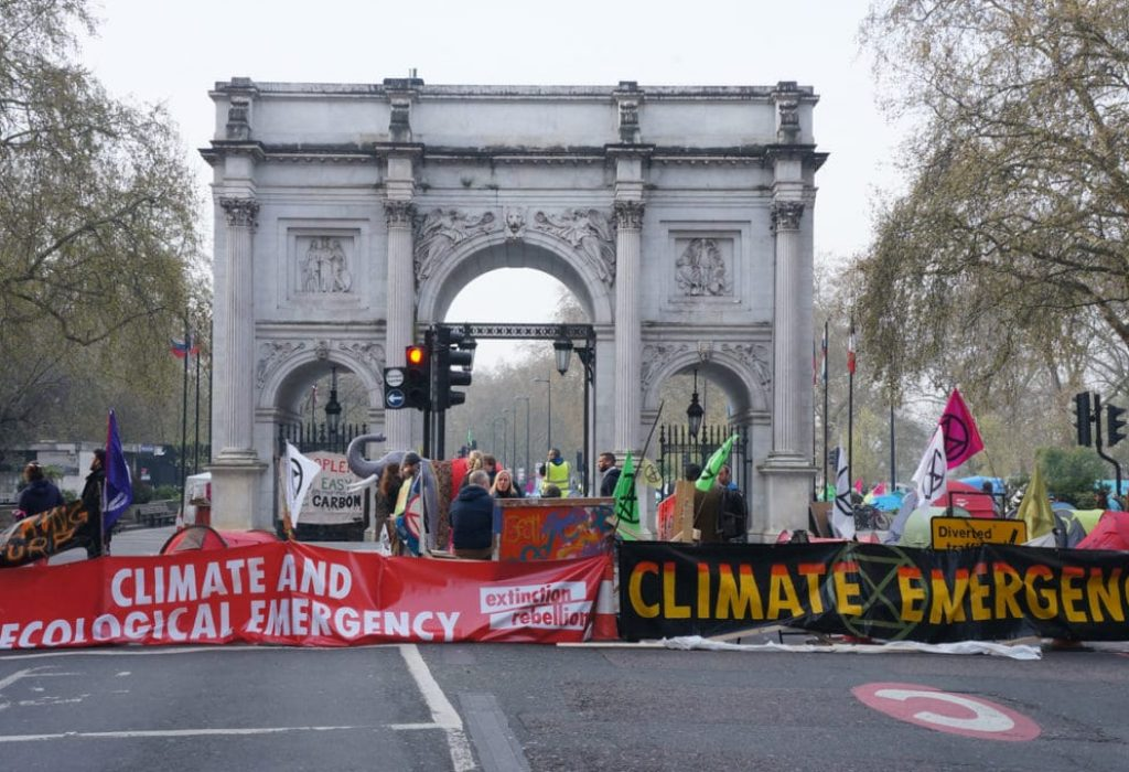 The rebel's base camp was in Marble Arch