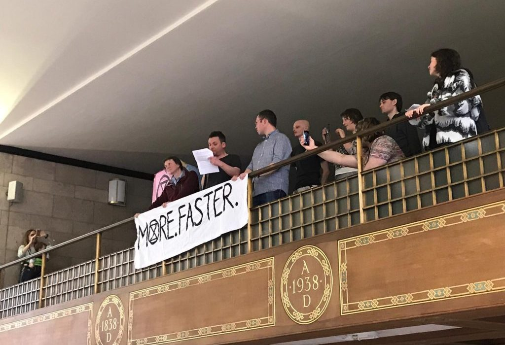 Extinction Rebellion slams green plan. Extinction Rebellion slams green plan. Manchester city council pressented a plan for tackle climate crisis. Extinction Rebellion say it is not ambitious enough. published in The Green Bee: Eco-Journalism. Author Juanele Villanueva
